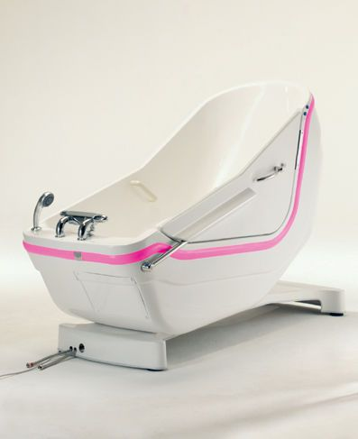 Electrical medical bathtub / with side access / height-adjustable SWING Autofill Horcher Medical Systems