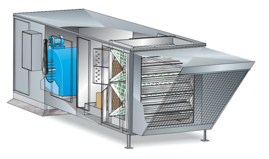 Air handling unit for healthcare facilities / roof-top LMU Huntair