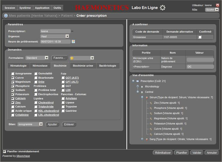 Management system / information / laboratory EdgeLab™ HAEMONETICS