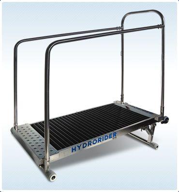 Swimming pool treadmill / with handrails AquaTreadmill Hydrorider
