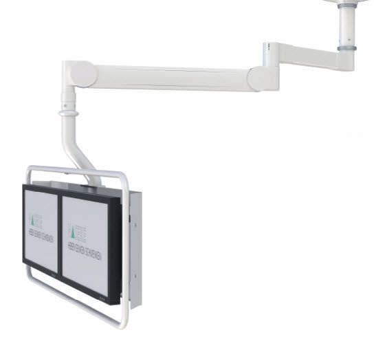 Surgical monitor support arm / ceiling-mounted HMA Lift 230 Haseke