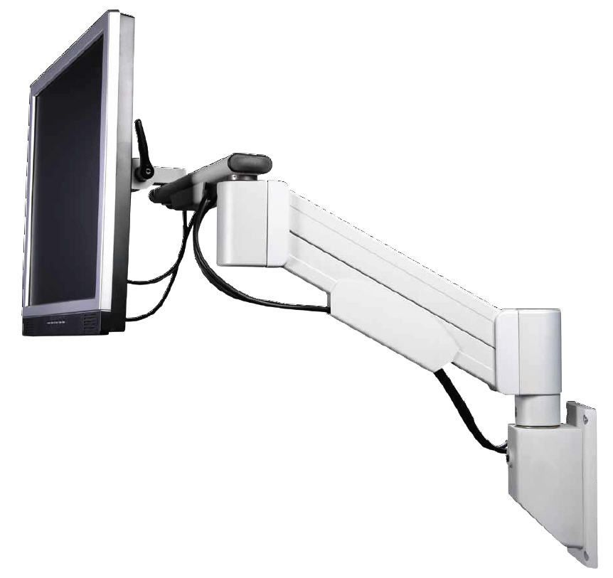 Medical monitor support arm / wall-mounted HMA Lift 20 Haseke