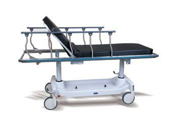 Transport stretcher trolley / pneumatic / 2-section Horizon® Hausted Patient Handling Systems