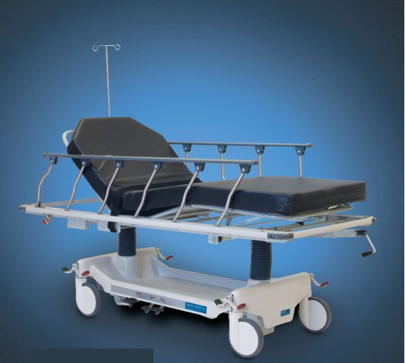 Transport stretcher trolley / height-adjustable / hydro-pneumatic / 4-section Horizon® AirGlide Hausted Patient Handling Systems