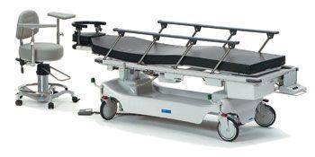 Transport stretcher trolley / height-adjustable / electrical / 2-section Horizon® 5E8 Hausted Patient Handling Systems