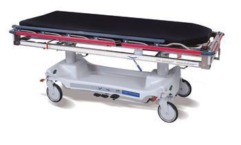 Transport stretcher trolley / height-adjustable / X-ray transparent / hydro-pneumatic Hausted Patient Handling Systems