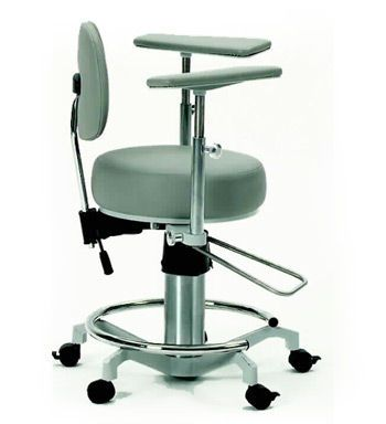 Medical stool / on casters / height-adjustable / with armrests Hausted Patient Handling Systems
