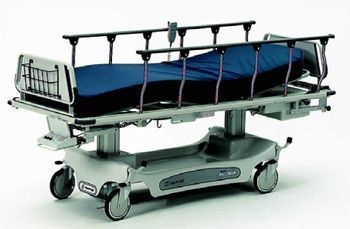 Transport stretcher trolley / height-adjustable / electrical / 3-section Horizon® 4E Retracto® Hausted Patient Handling Systems