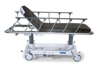 Transport stretcher trolley / height-adjustable / hydro-pneumatic / 2-section Horizon® 462 Retracto® Hausted Patient Handling Systems