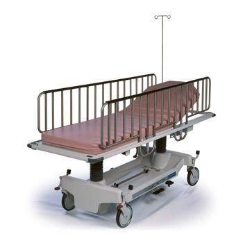 Pediatric stretcher trolley / transport / height-adjustable / mechanical Horizon® Youth Hausted Patient Handling Systems