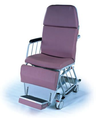 Hydro-pneumatic stretcher chair / height-adjustable / X-ray transparent / 3-section MBC Hausted Patient Handling Systems