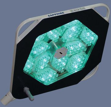 LED surgical light / ceiling-mounted / 1-arm 160000 LUX | SAPPHIRE Gubbemed
