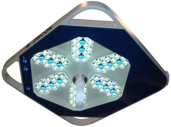 Surgical lamp / LED / ceiling-mounted 120000 LUX | ZIRCON Gubbemed