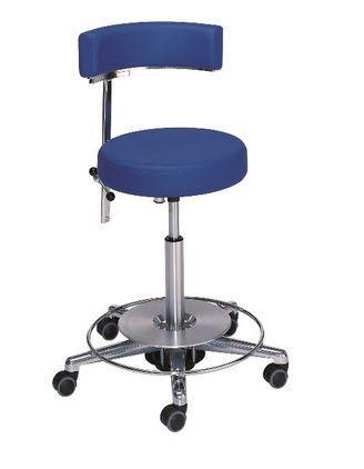 Medical stool / height-adjustable / on casters / with backrest 3 Heinemann Medizintechnik