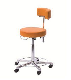 Medical stool / height-adjustable / on casters / with backrest 2 Heinemann Medizintechnik