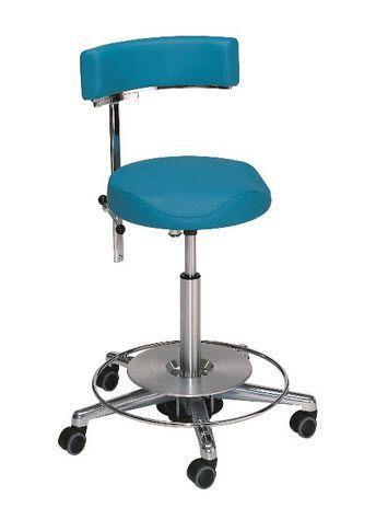 Medical stool / height-adjustable / on casters / with backrest 4 Heinemann Medizintechnik