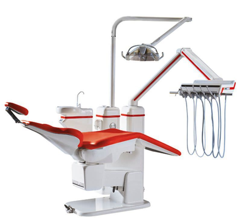 Dental treatment unit with motor-driven chair Subsupported Heka Dental A/S
