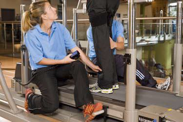 Treadmill with handrails / with harness systems locomotion h/p/cosmos sports & medical