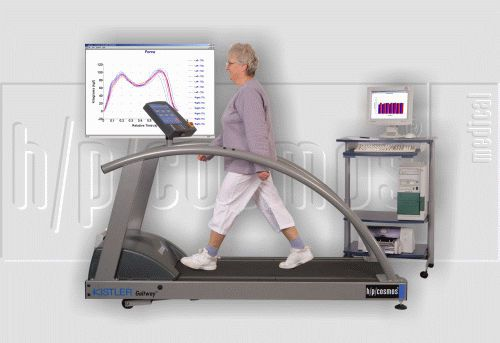 Treadmill ergometer with handrails gaitway II h/p/cosmos sports & medical