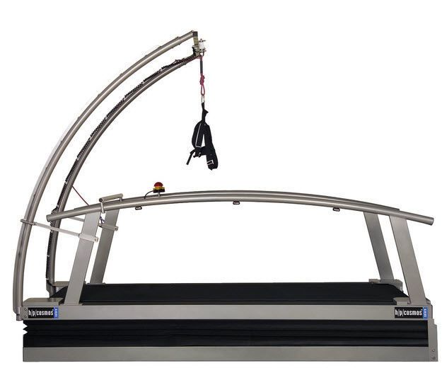 Treadmill with harness systems / with handrails saturn 200/75 h/p/cosmos sports & medical