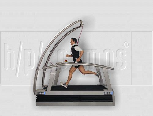 Treadmill with handrails / with harness systems venus h/p/cosmos sports & medical
