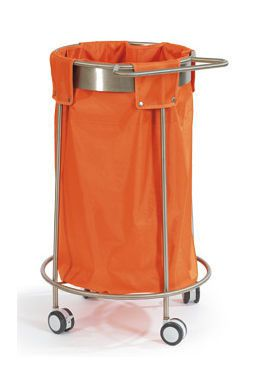 Cleaning trolley / linen / stainless steel HAMMAM MEDICAL