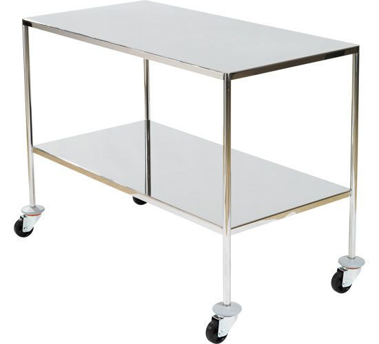 Multi-function trolley / stainless steel / 2-tray FIXED SHELVES HAMMAM MEDICAL