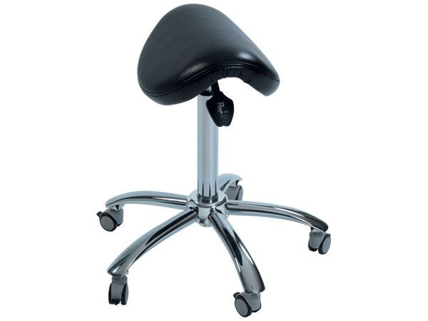 Medical stool / height-adjustable / on casters / saddle seat HAMMAM MEDICAL