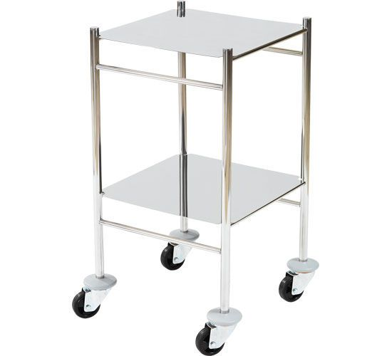 Multi-function trolley / stainless steel / 2-tray HAMMAM MEDICAL