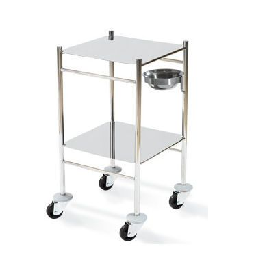 Multi-function trolley / dressing / stainless steel / 2-tray HAMMAM MEDICAL