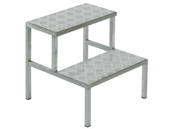 2-step step stool / stainless steel HAMMAM MEDICAL