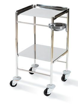 Dressing trolley / with shelf / stainless steel HAMMAM MEDICAL