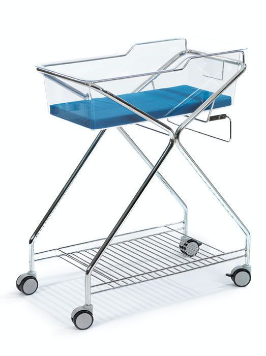 Transparent hospital baby bassinet / on casters HAMMAM MEDICAL
