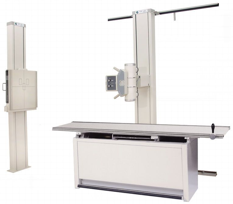 Radiography system (X-ray radiology) / analog / for multipurpose radiography / with vertical bucky stand Compact Rad System GTR Labs