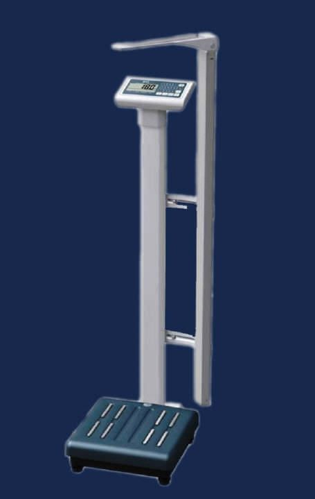 Electronic patient weighing scale / column type / with BMI calculation / with height rod 250 Kg | BMI 008 HARDIK MEDI-TECH
