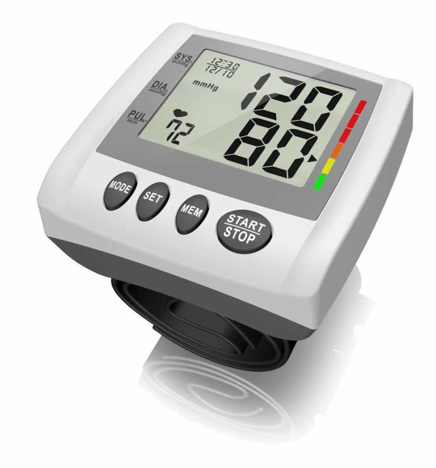 Automatic blood pressure monitor / electronic / wrist 0 - 300 mmHg, 40 - 199 bpm | HL158IA HEALTH & LIFE