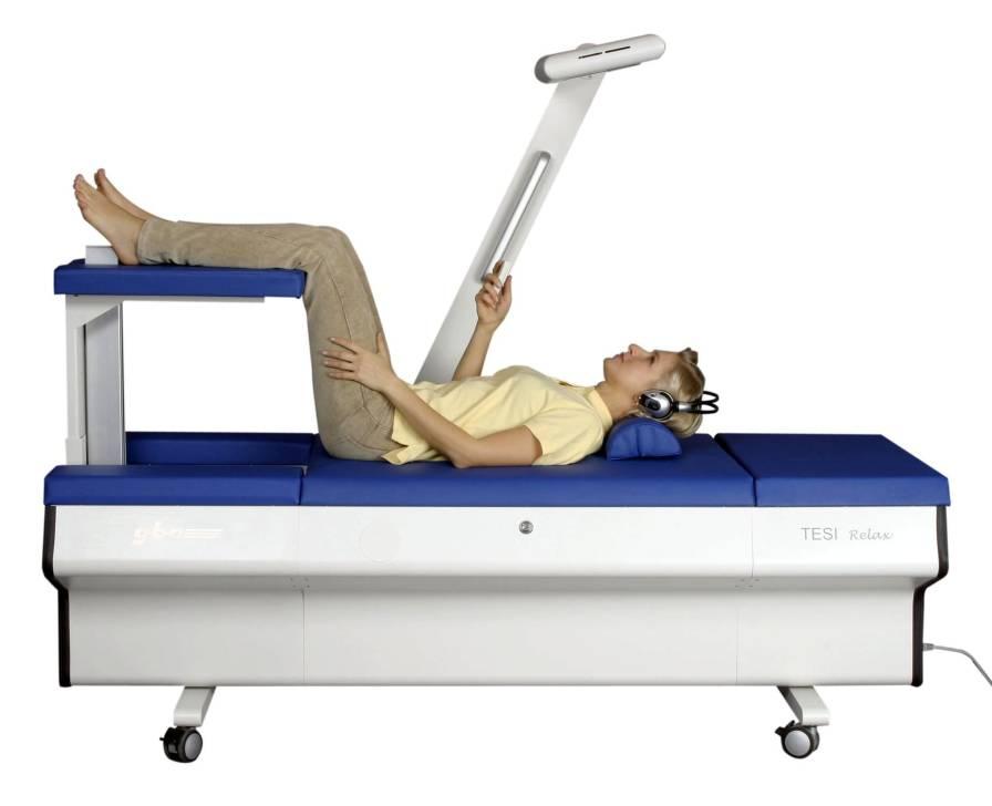 Lumbar traction table TESI RELAX gbo Medizintechnik AG