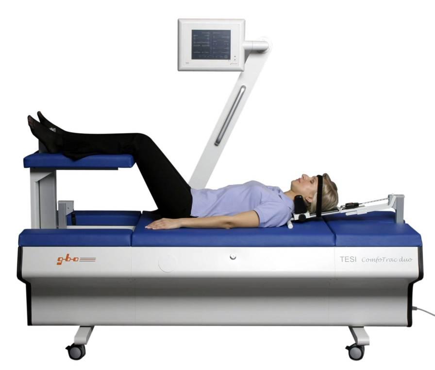Lumbar traction table TESI COMFOTRAC DUO gbo Medizintechnik AG