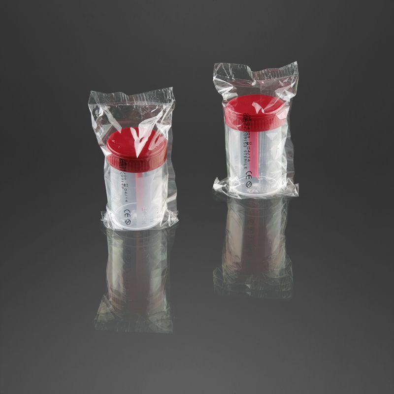 Feces sample container / with screw cap 60 mL | 25162, 25165 F.L. Medical