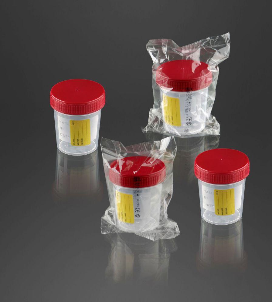 Urine sample container 120 mL | 25034E, 25036E F.L. Medical