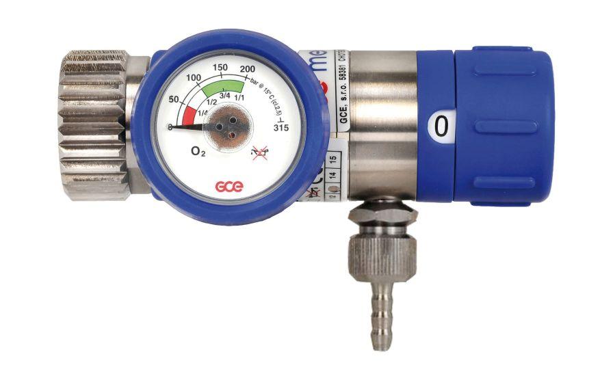 Medical gas pressure regulator / adjustable-flow max. 300 bar | MEDISELECT® II GCE