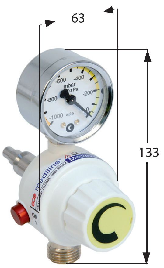 Vacuum regulator 70 L/min | Medievac+ GCE