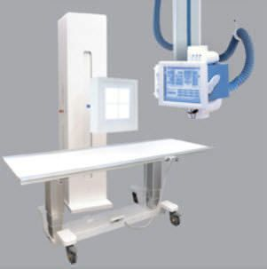 Radiography system (X-ray radiology) / digital / for multipurpose radiography / with ceiling-suspended telescopic tube-stand Gamma 1C Plus General Medical Italia