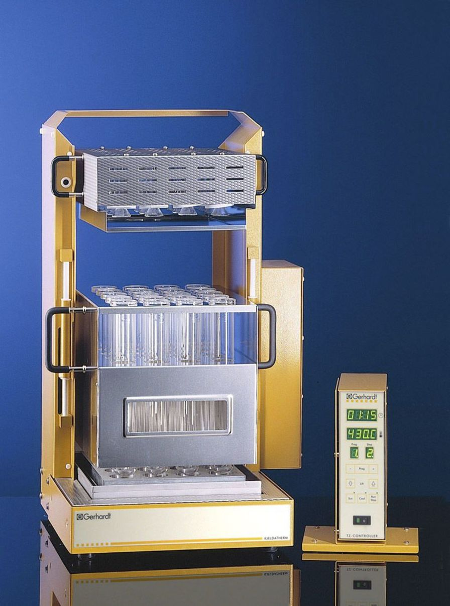 Laboratory automatic digester (Kjeldahl type) KJELDATHERM Gerhardt Analytical Systems