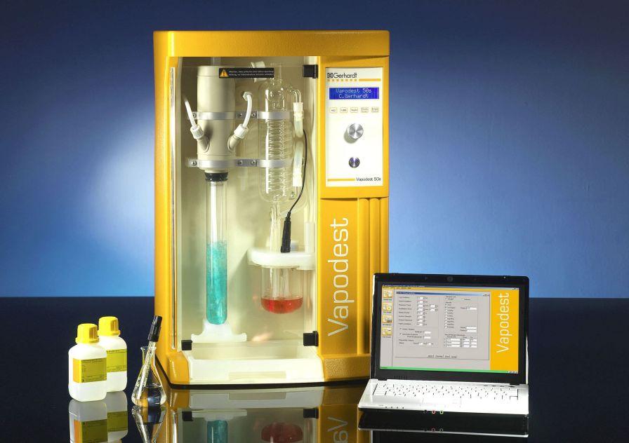 Laboratory distillation system (Kjeldahl type) VAPODEST 50s Gerhardt Analytical Systems
