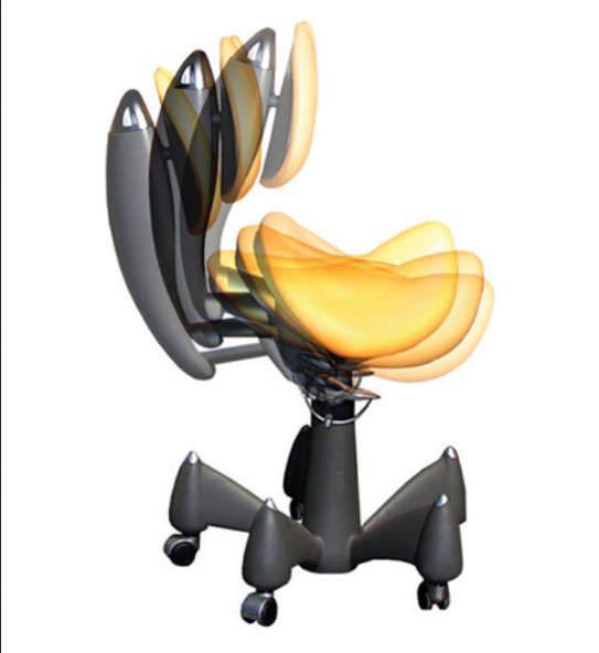 Dental stool / on casters / height-adjustable / with backrest PLUTO GALBIATI
