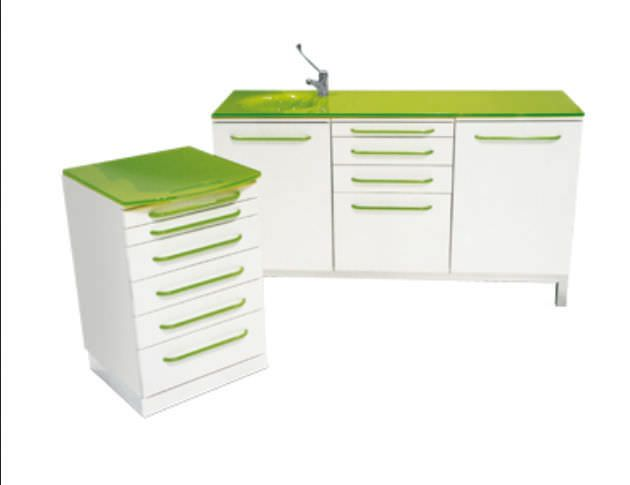 Medical cabinet / dentist office / with sink CONFORT GLASS GALBIATI