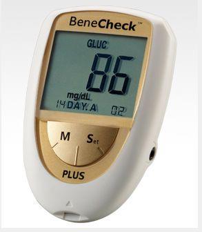 Cholesterol blood glucose meter BeneCheck PLUS General Life Biotechnology