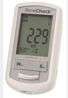 Cholesterol blood glucose meter BeneCheck LipidEx 3 General Life Biotechnology