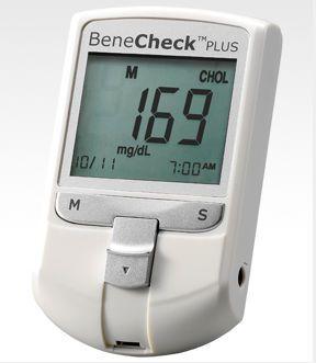 Cholesterol blood glucose meter BeneCheck PLUS PRO General Life Biotechnology